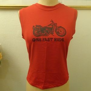 Eye Candy One Fast Ride Motorcycle Muscle Tee